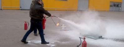 Priešgaisrinių mokymų akimirkos