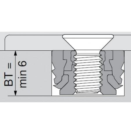 Lankstas BLUM CLIP TOP 8-14 mm durelėms