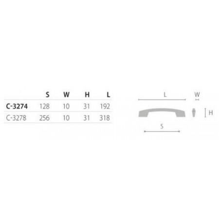 Baldinė rankenėlė C-3274/C-3278