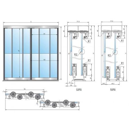FRAMELESS durų sistema