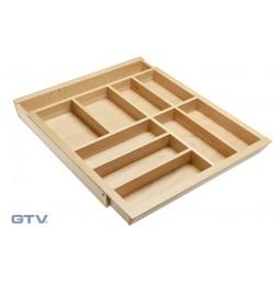 Medinis dėklas stalo įrankiams