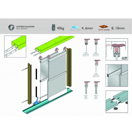 TWIN FLAT durų sistema