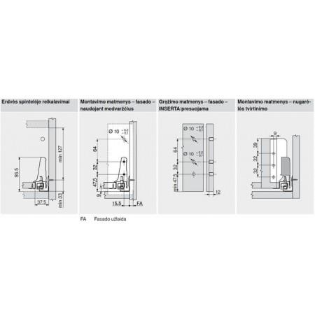 Tandembox vidinio stalčiaus sistema